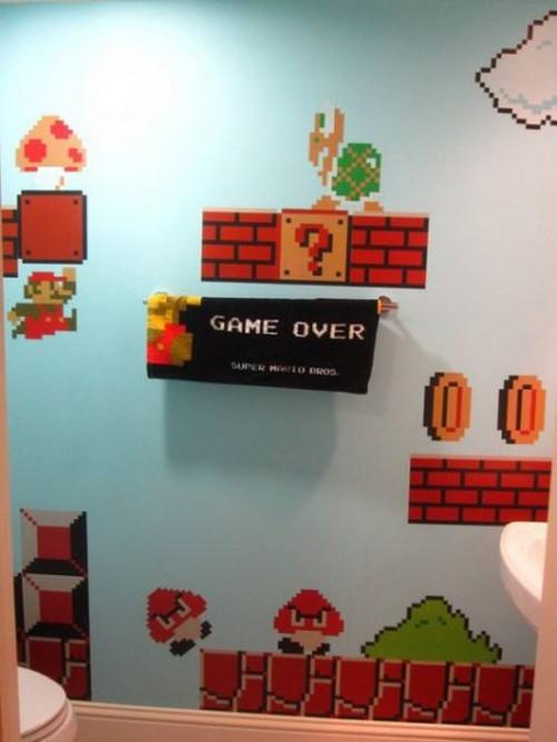 5 Ambientes com decoração do Mario Bros Por que não